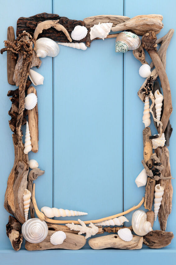 how to make picture frames from driftwood