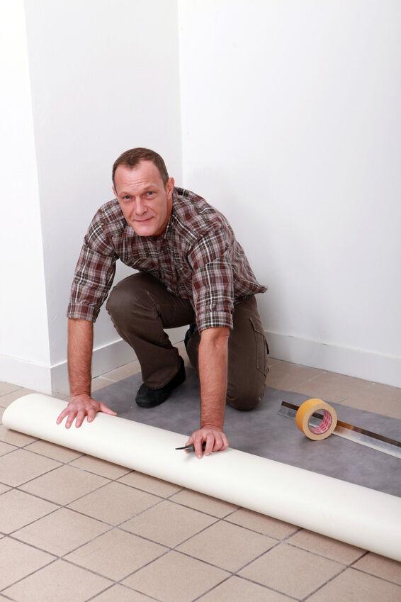 schutz vor schmutz und wasser pvc boden in der k che selbst verlegen ebay. Black Bedroom Furniture Sets. Home Design Ideas