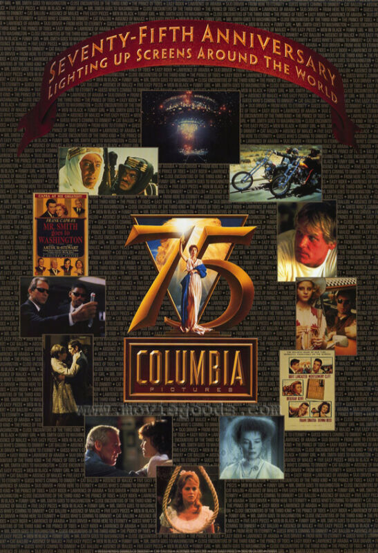 COLUMBIA PICTURES 75TH ANNIVERSARY Movie POSTER 27x40