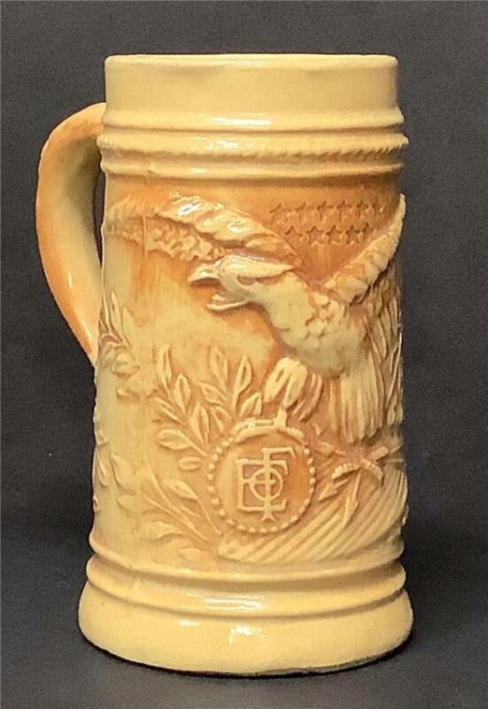 Antique/Vintage Fraternal Order of Eagles Stein Mug Hull 1920