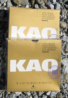 5 1/4 5.25 10 DSHD Disk Diskette Floppy New KAO in Box