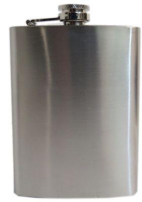 STAINLESS STEEL POCKET HIP BOTTLE FLASK 200ml ALCOHVODKA WHISKEY HOLDER 6oz