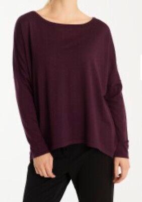 Gorgeous ILSE Jacobsen Purple Merino Wool Long Sleeved Pullover Jumper Size L/XL