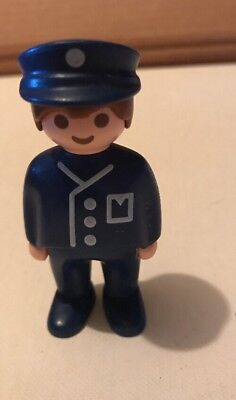 1990 Playmobil Policeman Action Figure Toy