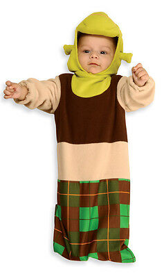 SHREK Plush Bunting Costume w/ Headpiece Newborn Baby Infant Age 0 9 months  - Shrek Headpiece