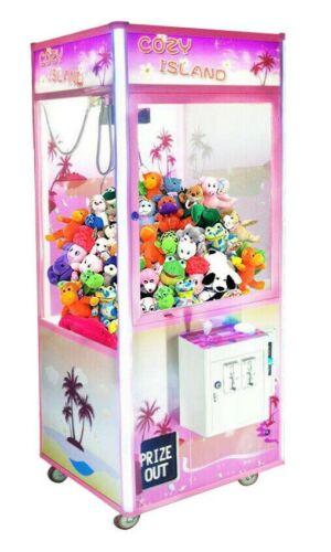 "COZY ISLAND 33"" Prize Crane Claw Machine Arcade Redemption Machine with DBA"
