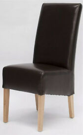 X4 barker and stonehouse brown leather dining chairs