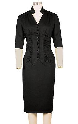 1940s Pinup Ava Psychobilly Pencil Dress ~ Rockabilly Vintage Wiggle Plus Size