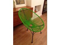 Green Acapulco style wire chair