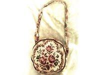 Flower embroidery styled handbag