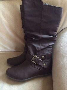 Real leather brown boots