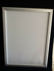ADVERTISING FRAME A2 clip/snap lock brushed chrome pic/poster Sutherland Sutherland Area Preview