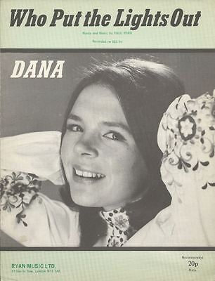 Who Put The Lights Out - DANA - Sheet Music