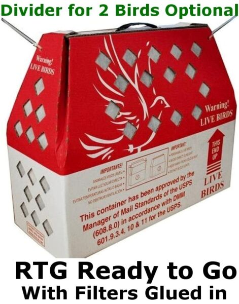Bird Shipping Boxes Horizon (5pk) Live Poultry Chicken - USPS Approved Bird Box 1