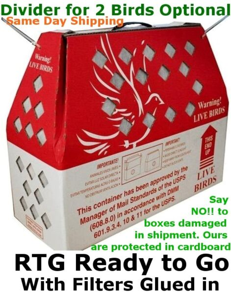 Bird Shipping Boxes Horizon (5pk) Live Poultry Chicken - USPS Approved Bird Box