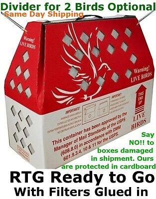 Bird Shipping Boxes Horizon (1pk) Live Poultry Chicken - USPS Approved Bird Box