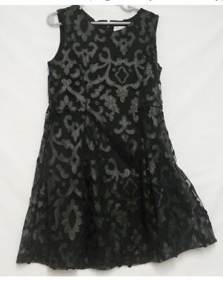 NWOT CHILDRENS PLACE Girls Sz 8 Black Lace Party Dress  Was $39.95 - Girls Party Place