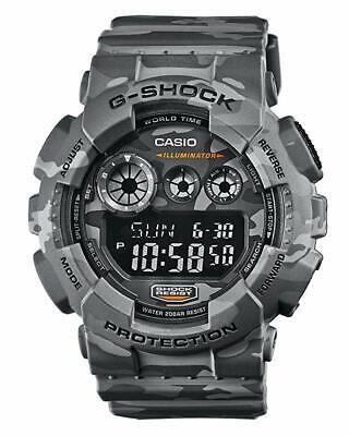 Casio G-Shock GD-120CM-8D Camouflage Series Grey Army Resin Digital Men's Watch
