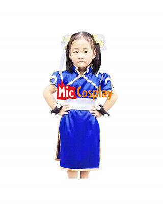Street Fighter Chun Li Costumes for Kids Girl Halloween Baby Cosplay