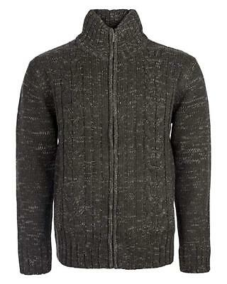 - Mens Knitted  Zipper Cardigan Cable Knitted Long Sleeves M / 5XL Winter Warm