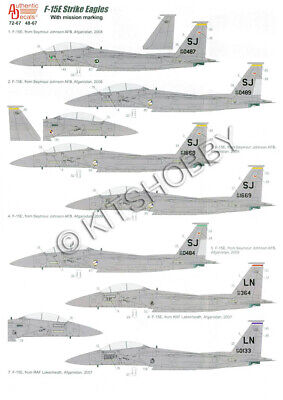 Authentic Decals 1/48 F-15E Strike Eagles with mission marking for sale  Shipping to United States
