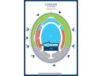 ROBBIE WILLIAMS | LONDON STADIUM 23 June | 2 SEATED Tickets | Section 112 Row 17 Seats 213-214