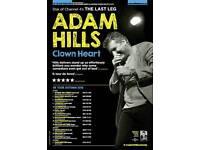 Adam Hills : Clown Heart at Chichester Festival Theatre Sunday 04/12/16 £25 each