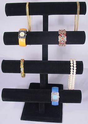17h Super Duty Black Jewelry Display 4 Tier T Bar Bracelet Bangle Watch Pj62b1