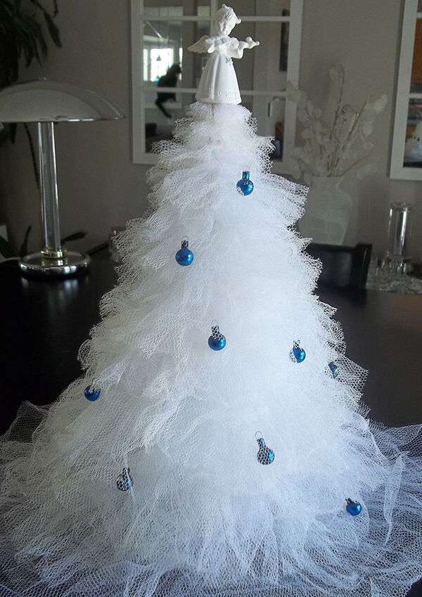 Steps to Making a Christmas Tree out of Tulle | eBay