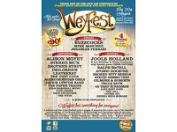2x Weyfest 2017 3-Day Adult Weekend Passes (inc 2x Weekend Camping Passes) - £100 or next best offer
