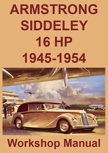 ARMSTRONG SIDDELEY 16HP WORKSHOP MANUAL