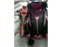 Monster high draculaura roadster car and Ghoulia scooter