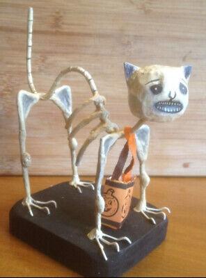 Bethany Lowe Virginia Betourne Trout Creek Halloween Skeleton Cat—Retired