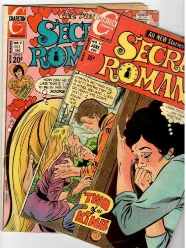 Secret Romance 13 & 21 Charlton 1971-72  Bronze-Age Solid Copies VG+