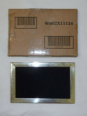 """Genuine GE WB02X11124 Microwave Charcoal Filter Approx 4"""" x 6"""" JX81J NEW!"""