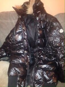 Authentic lightly worn Monclear down filled hooded jacket