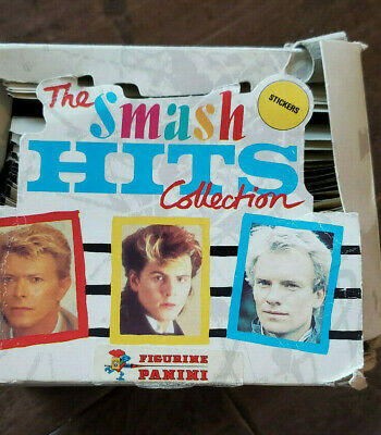 1984 PANINI THE SMASH HITS UNOPENED BOX OF 50 PACKS 6 STICKERS PER BOWIE STING