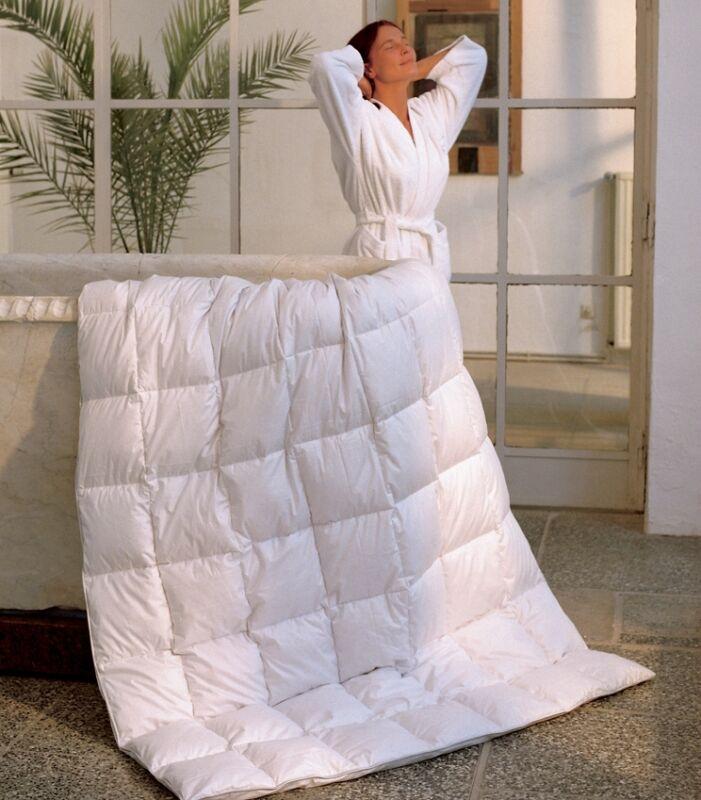 canadian dreams sommer daunendecke 155x220 daunenbett bettdecke 450g f llgewicht ebay. Black Bedroom Furniture Sets. Home Design Ideas