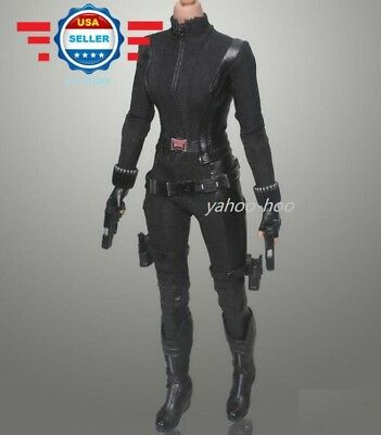 1/6 Scale Captain America The Avengers Black Widow Battle Costumes - Black Widow Avengers Costumes