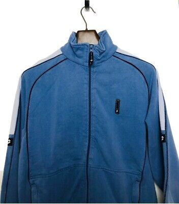 Mens Vintage Lotto Zip Jumper Small Blue Good Condition