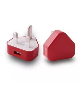 Universal AC 100V-240V To 5V 1A CE USB Wall Mains Plug Adapter Charger (Red)