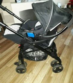 Silver cross 3D pram system with Ventura Car Seat, bag & raincovers
