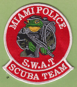 MIAMI-FLORIDA-SWAT-SCUBA-DIVE-TEAM-SHOULDER-PATCH-Red-variation