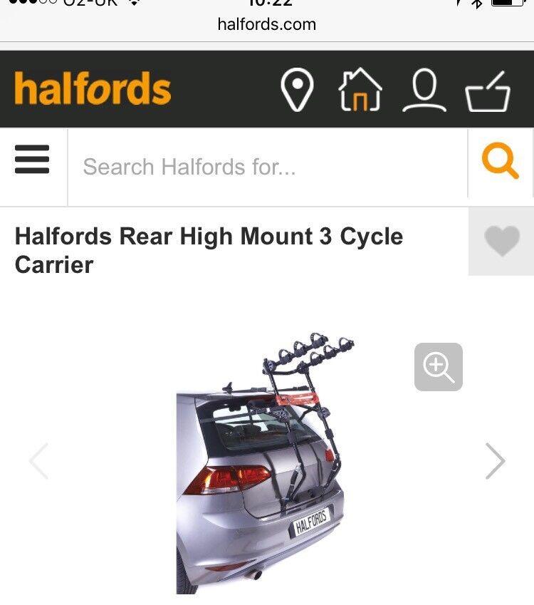 Halfords rear bike rack