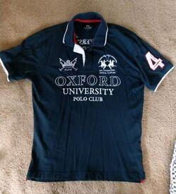 Unique navy polo shirt large