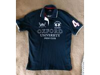 Unique navy polo shirt large
