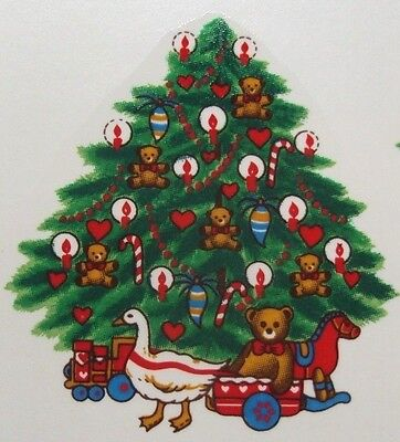((6) Ceramic Water Slide Labels Christmas Tree Toys L113)