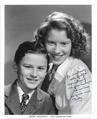 Autograph Portrait Photograph Signed by Roddy & Virginia McDowall~105205