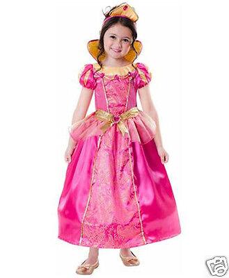 Queen Hoop Gown Costume M 8-10 Girl Child Kid Dress Up Halloween Pink Princess (Ups Girl Costume)