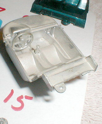 Slot Car Interior with Seats 2 In long X 1 3/8 In wide 1960s Vintage Used #15